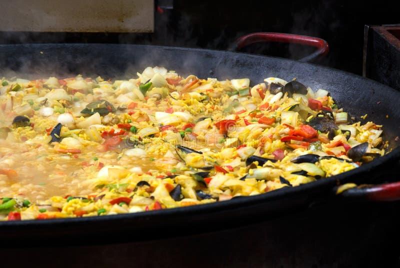 Spaanse Paella stock foto's
