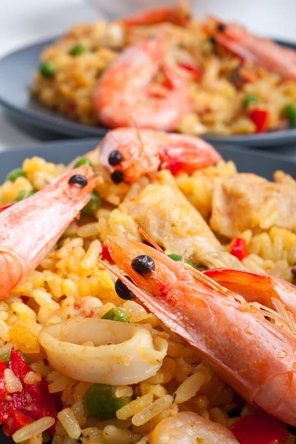 Spaanse paella stock afbeeldingen