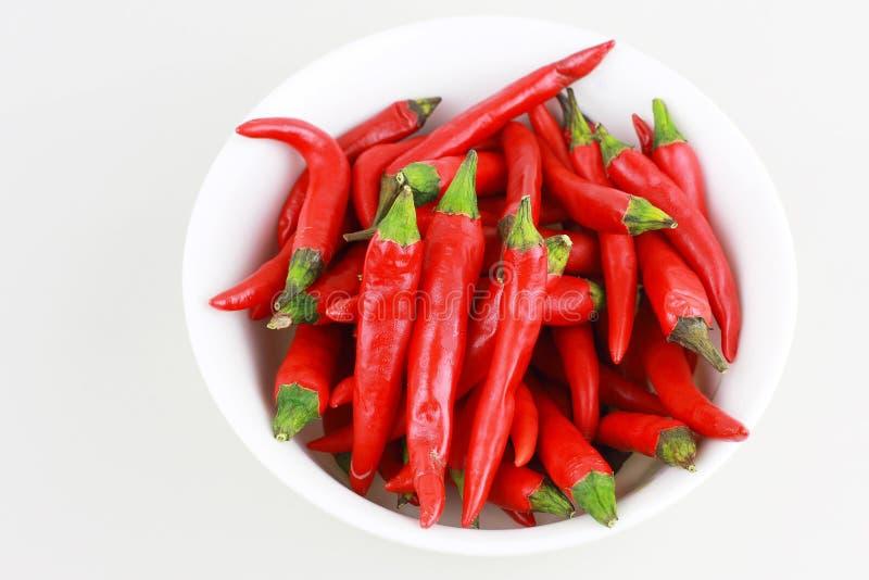Spaanse peper in de kom royalty-vrije stock fotografie