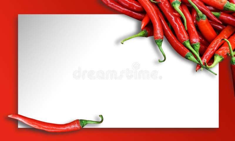 Spaanse peperpeper op papier royalty-vrije stock afbeelding
