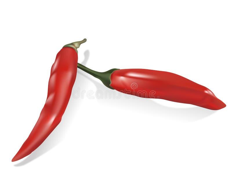 Spaanse pepers royalty-vrije stock afbeelding