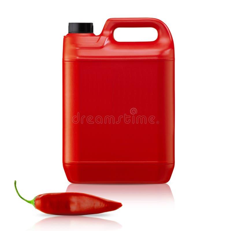Spaanse pepersaus stock foto
