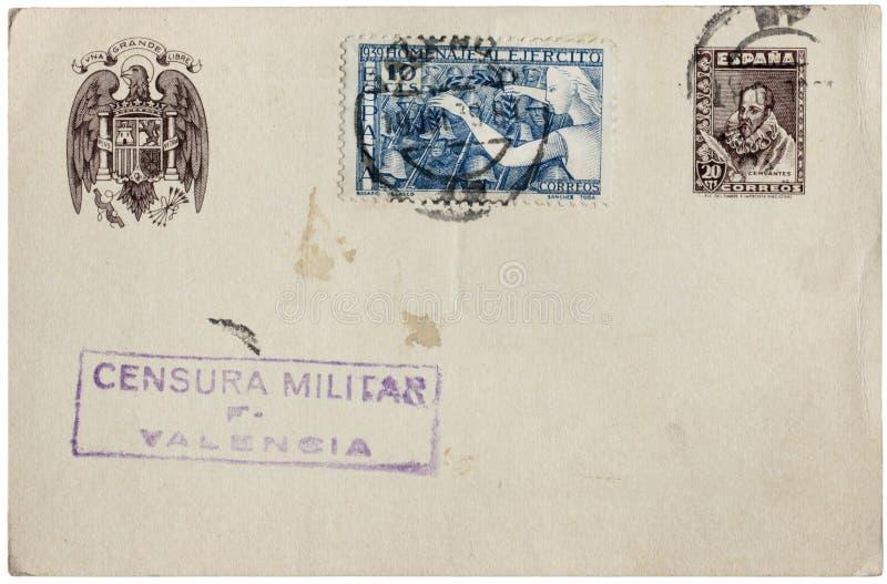 Spaanse Prentbriefkaar stock afbeelding