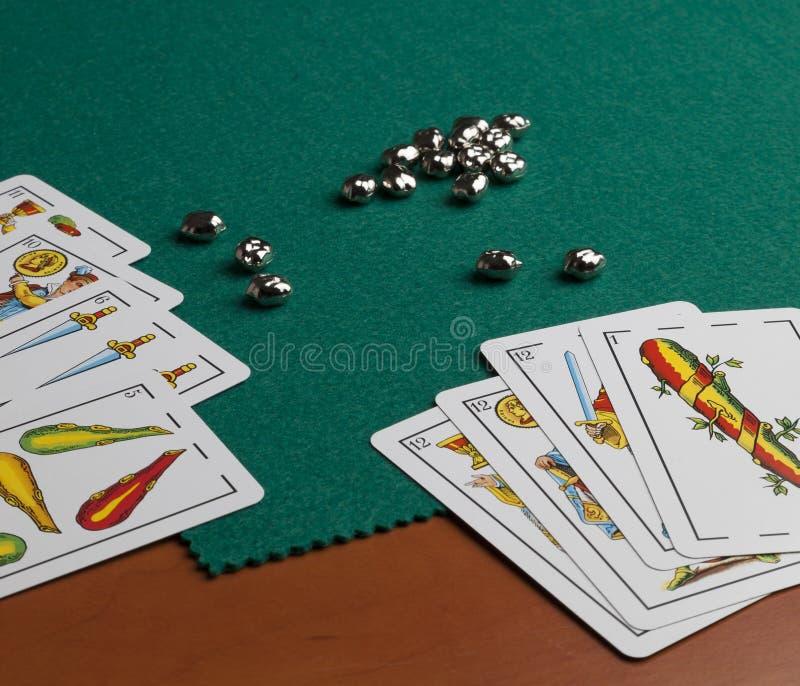 Spaanse speelkaarten royalty-vrije stock foto's