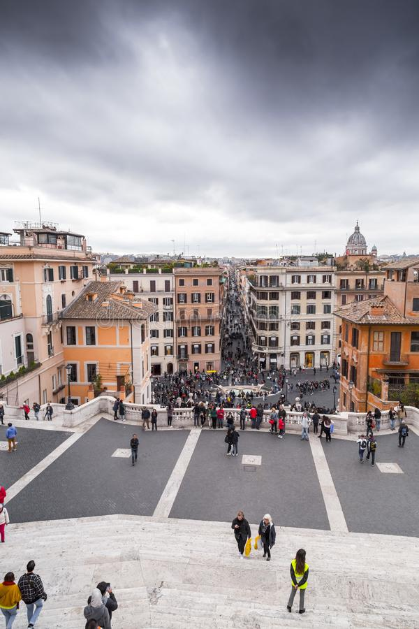 Spaanse Stappen bij Piazza Spagna, Rome, Itali? royalty-vrije stock fotografie