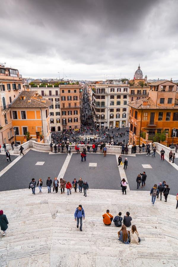 Spaanse Stappen bij Piazza Spagna, Rome, Itali? stock fotografie