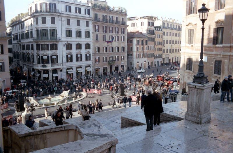 Spaanse Stappen in Rome stock foto's