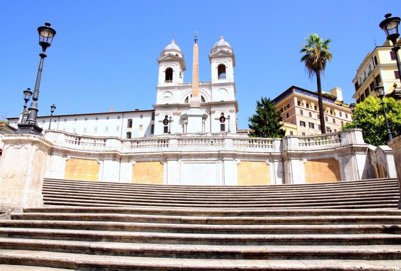 Spaanse Stappen in Rome Italië royalty-vrije stock foto