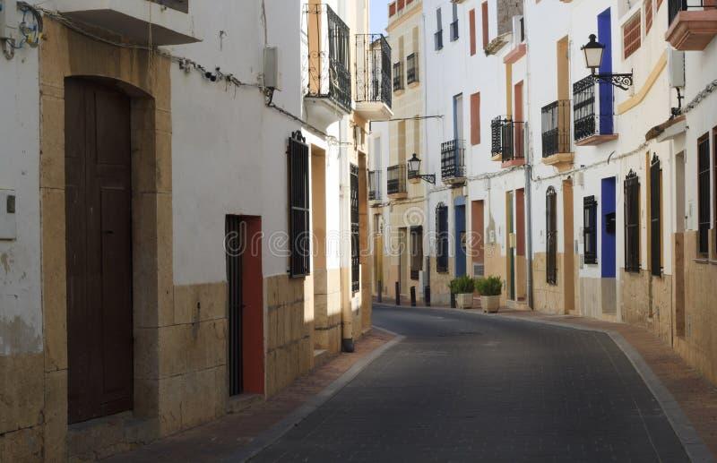 Spaanse straat stock afbeelding
