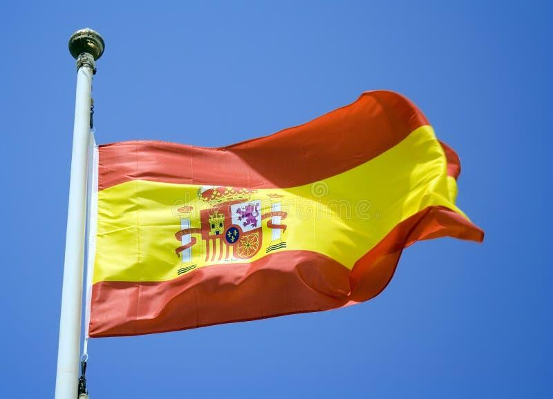 Spaanse Vlag royalty-vrije stock afbeeldingen