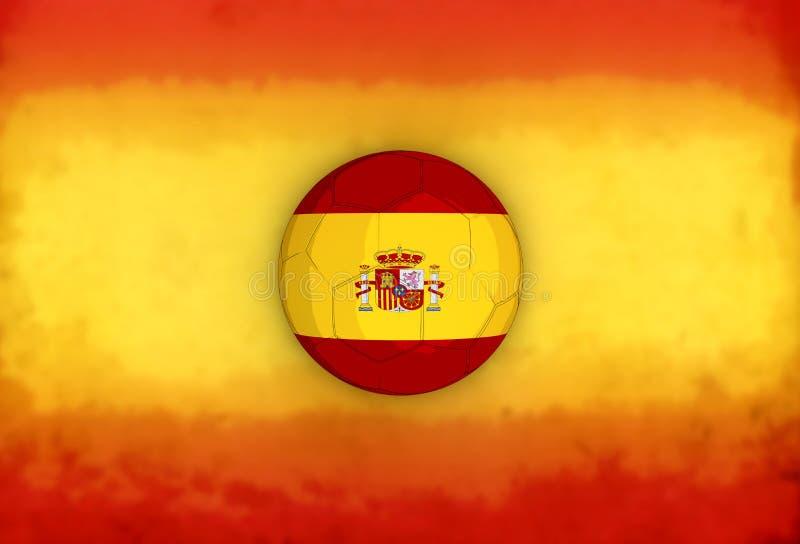 Spaanse vlag stock illustratie