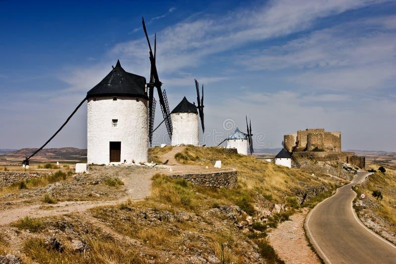 Spaanse windmolens stock afbeeldingen