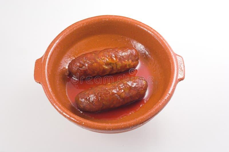 Spaanse Worst stock foto's