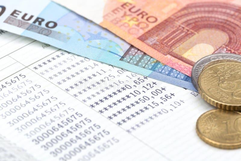 Spaarbankbankboekje stock foto