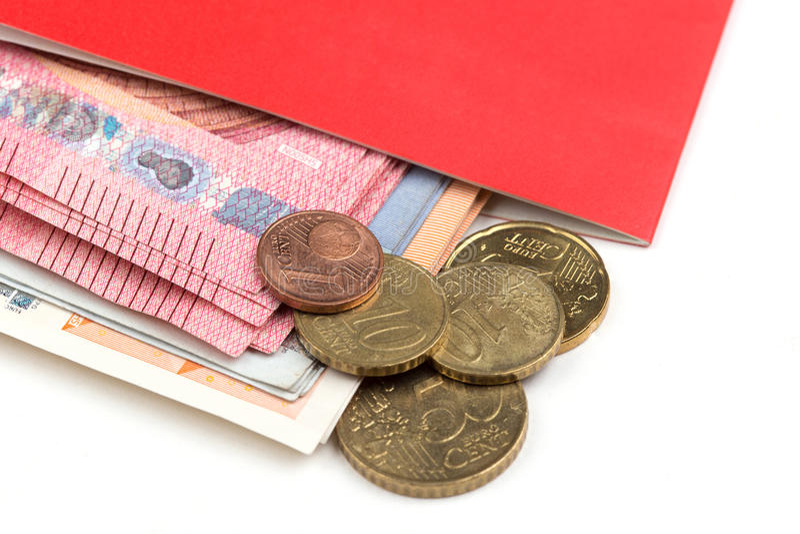 Spaarbankbankboekje stock afbeelding