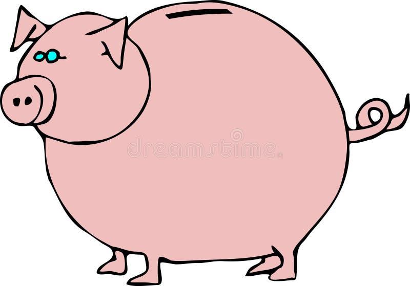 Spaarvarken stock illustratie