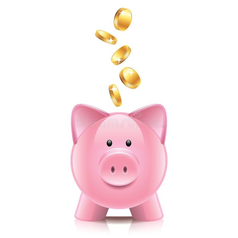 Download Spaarvarken En Muntstukkenillustratie Vector Illustratie - Illustratie bestaande uit geld, pictogram: 39100688