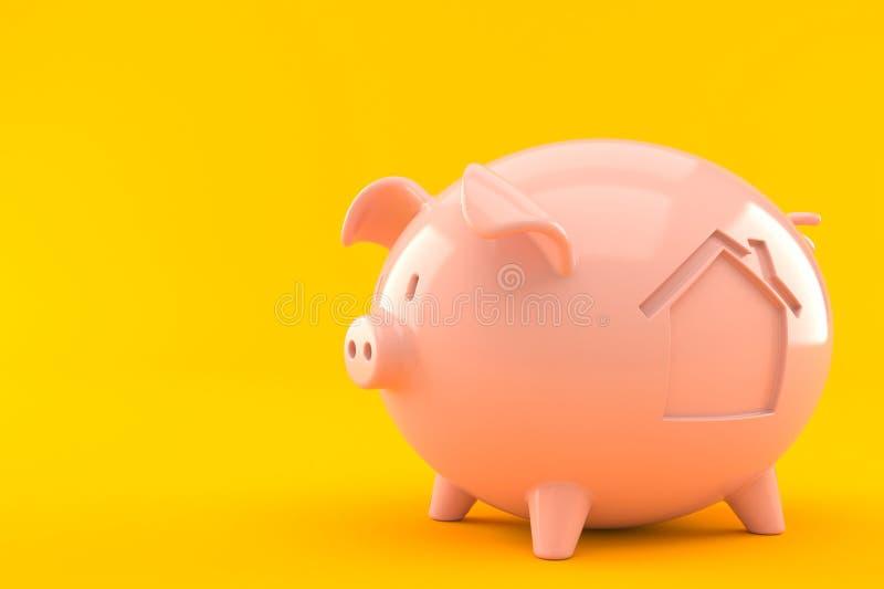 Spaarvarken met huispictogram vector illustratie