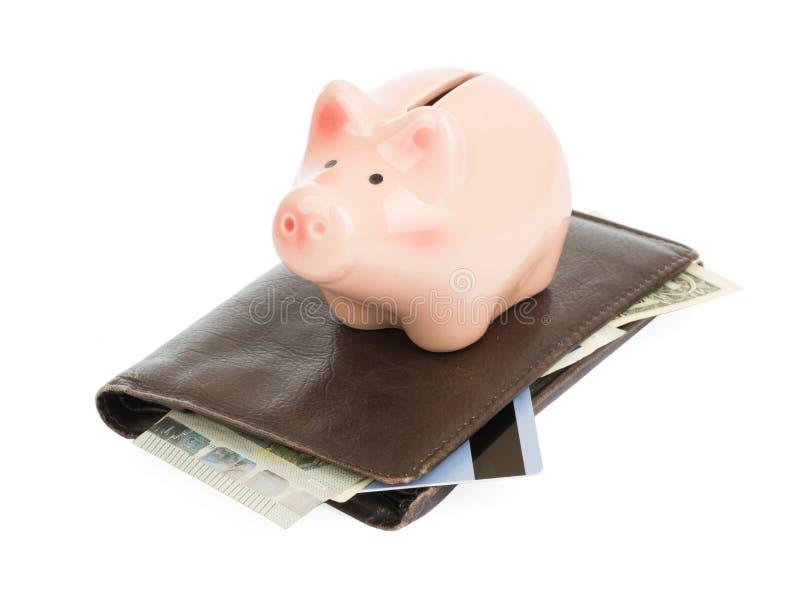 Spaarvarken op beurs royalty-vrije stock afbeeldingen