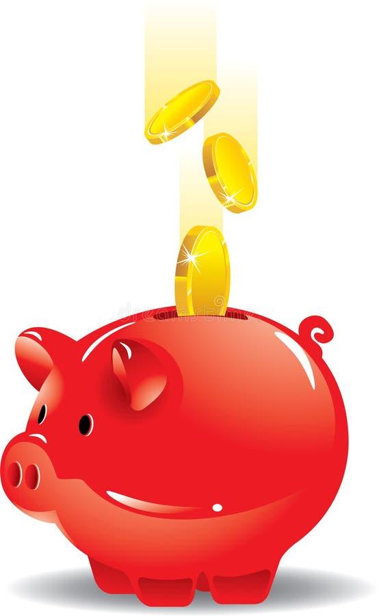 Spaarvarken - sparen uw geld royalty-vrije illustratie