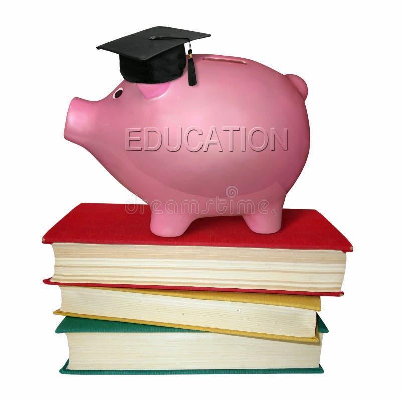 Spaarvarken voor onderwijs royalty-vrije stock afbeeldingen