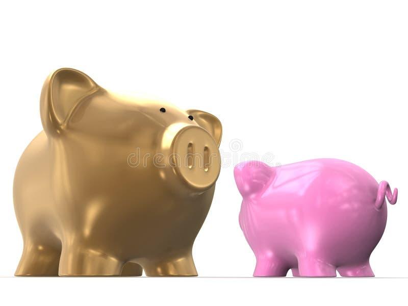 Spaarvarkens royalty-vrije illustratie
