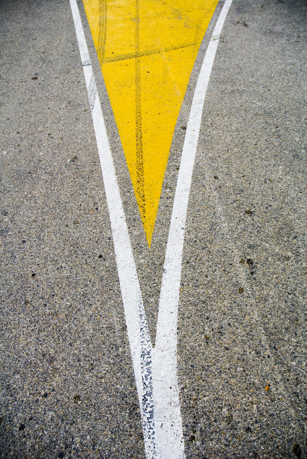 Spaccatura della strada immagine stock