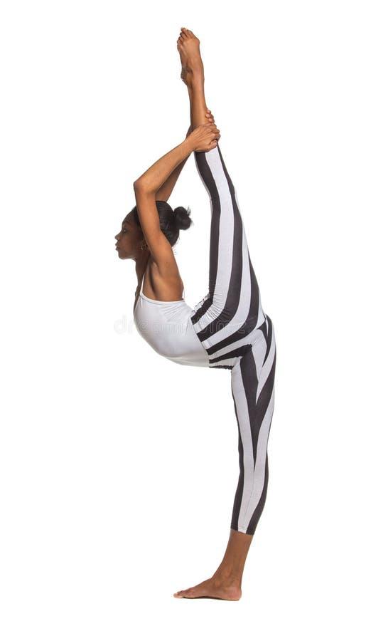 Spaccature verticali. Ragazza del ballerino di Latina fotografia stock