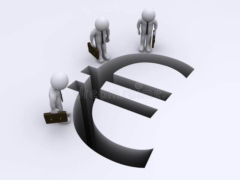 Spacco euro di sorveglianza illustrazione vettoriale