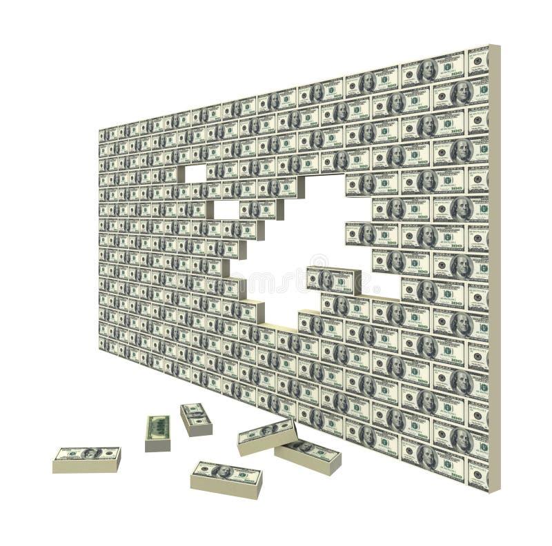 Spacco finanziario. Crisi finanziaria. illustrazione di stock