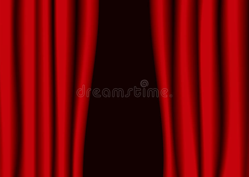Spacco rosso della tenda del teatro illustrazione di stock