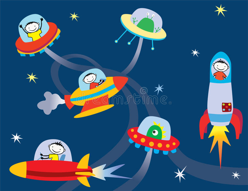 Download In space stock vector. Image of missile, propulsion, space - 25087643