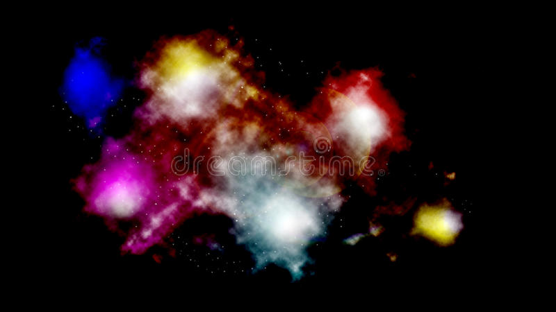 Space abstract glowing clouds stock illustration