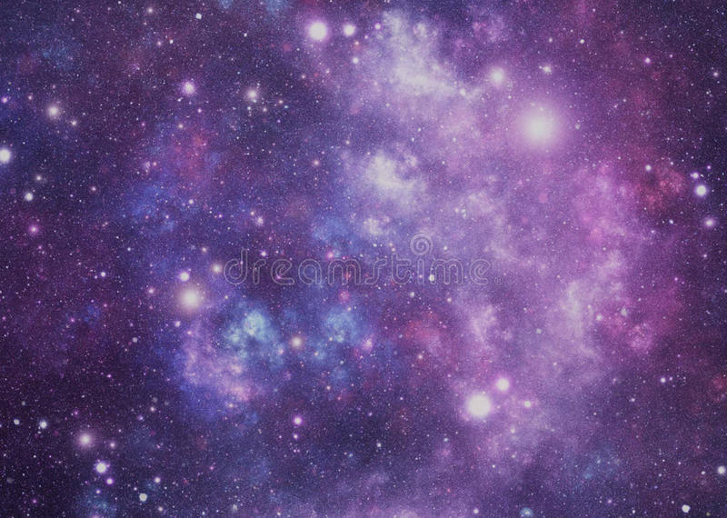 Space. Abstract illustration of universe stars