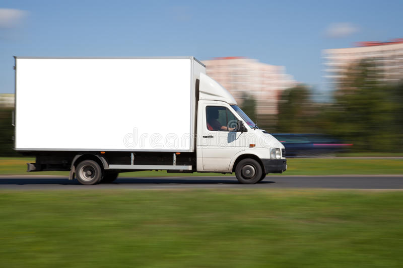 Space for advertisement on truck stock image