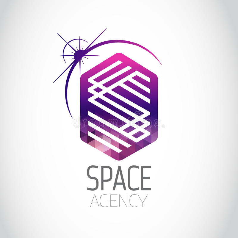Space Agency Purple Logo. Space Agency Purple Gradient Logo royalty free illustration