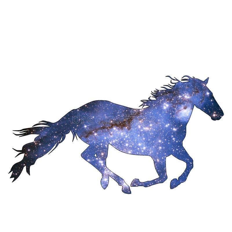 Space Animal Starlight Horse royalty free illustration