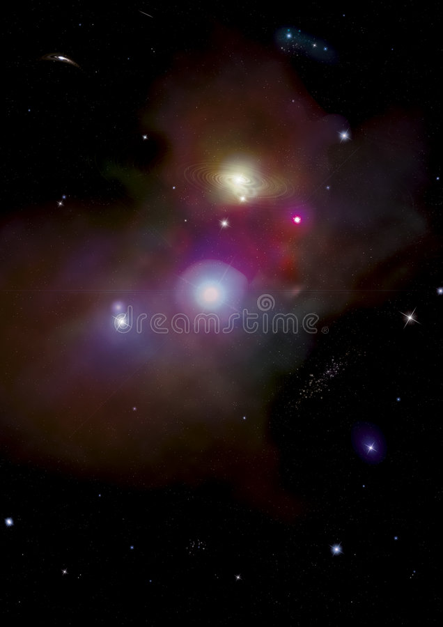 Space Background. With mulitiple galaxies and stars. Made in photoshop vector illustration