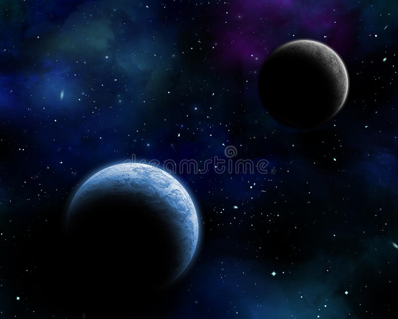 Space background royalty free illustration