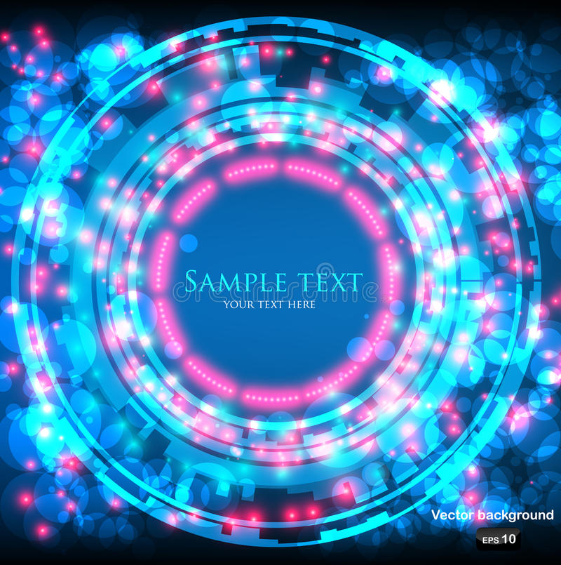 Space background with glowing lights royalty free illustration