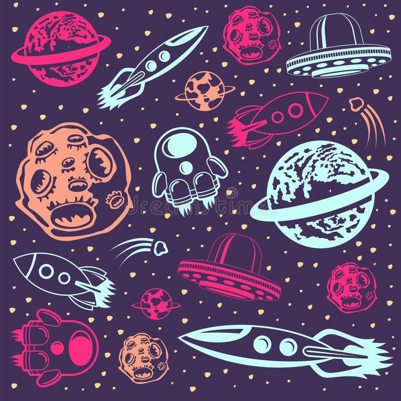 Space background stock illustration