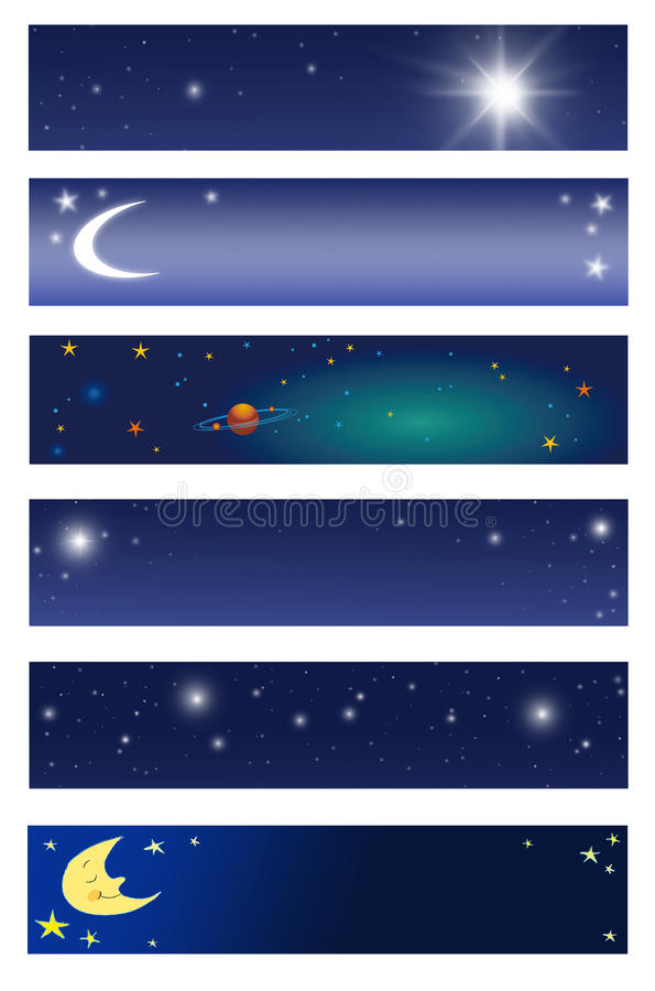 Download Space Banners Royalty Free Stock Image - Image: 14392446