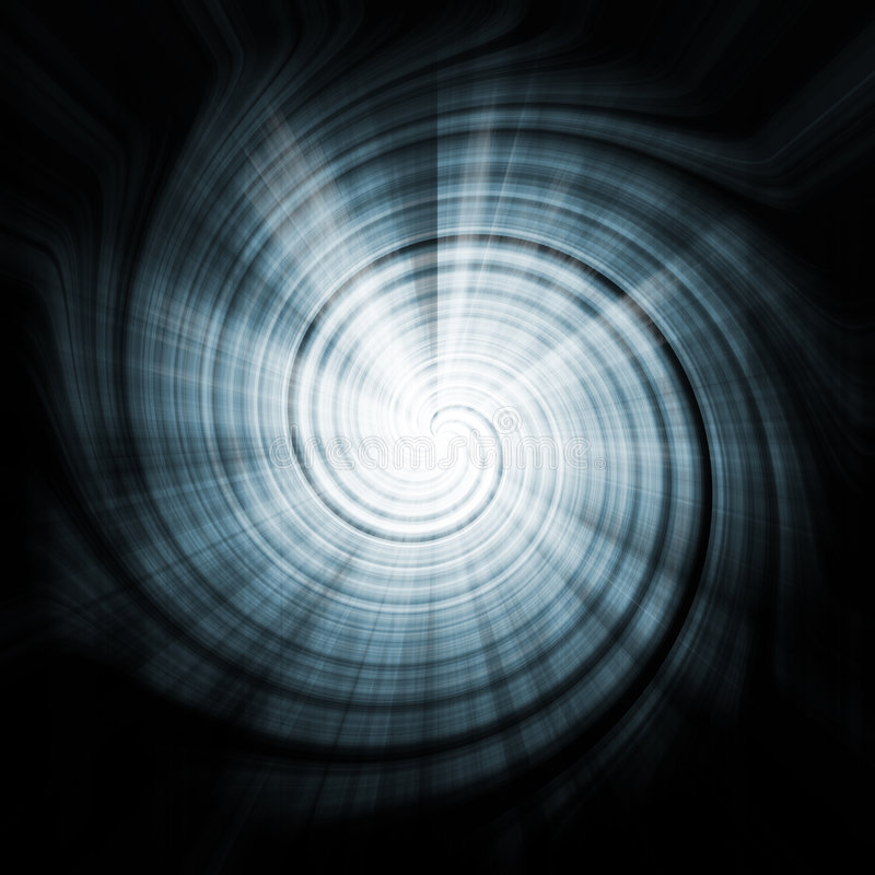 Space Blue Abstract Vortex Background Texture royalty free illustration
