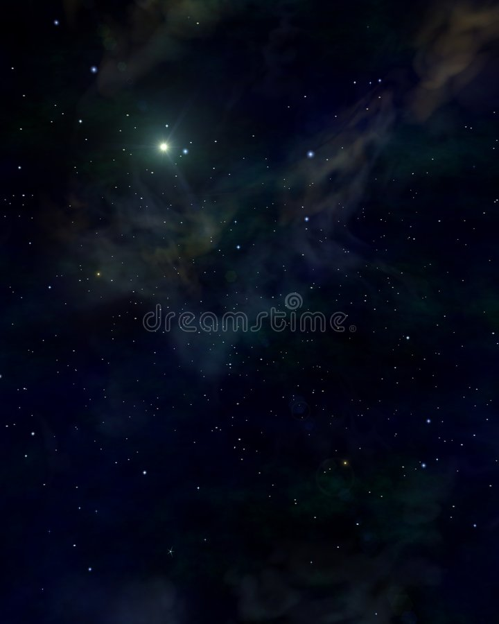 Free Space Blue Stars Royalty Free Stock Image - 6334876
