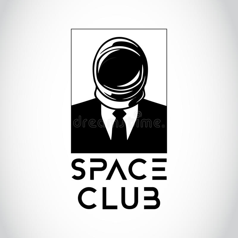 Space Business Man. Modern Space Business Man Logo vector illustration
