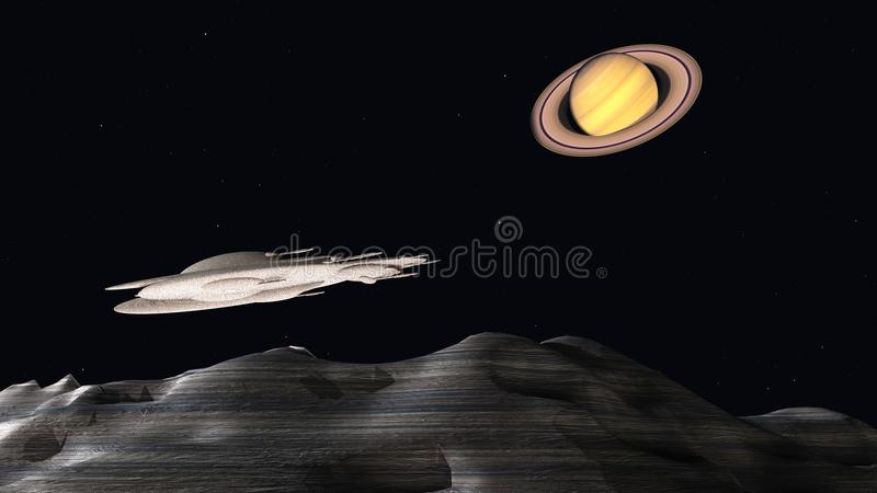 Space colonization stock image