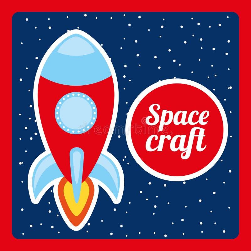 Space craft design stock illustration