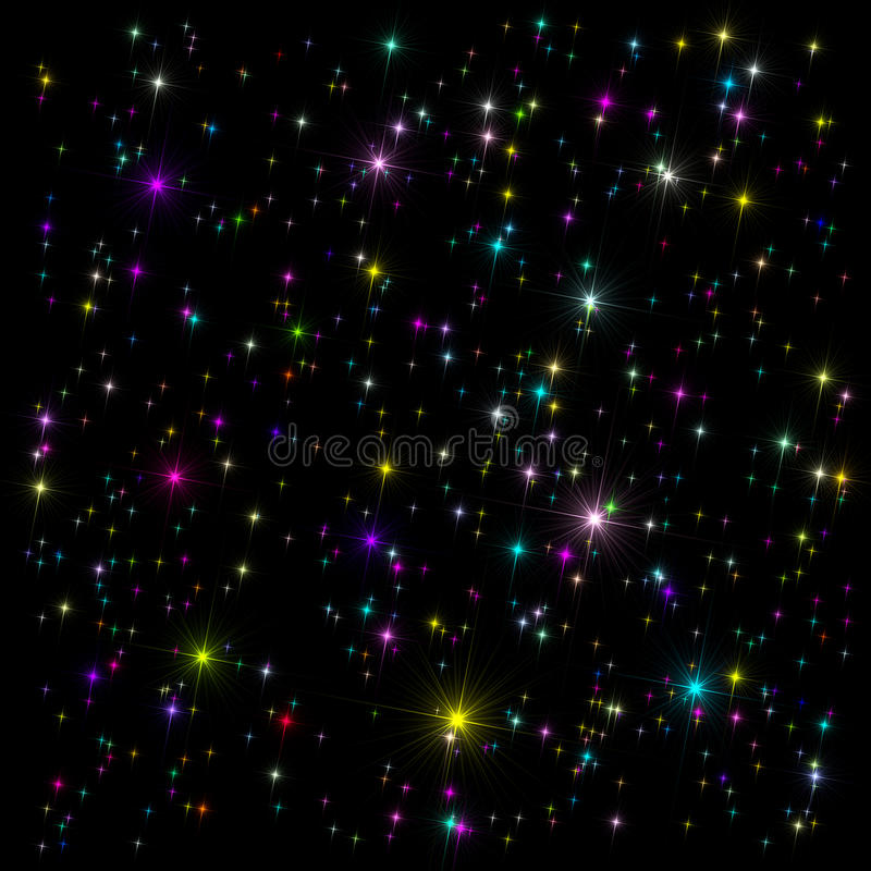 Download Space Decorative Background Stock Illustration - Illustration of border, black: 23116569