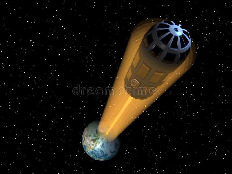 Space Elevator2 stock illustration