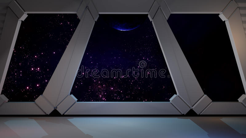 Space environment, ready for comp of your characters. royalty free illustration